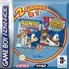 2 games in 1 : Sonic Advance + Sonic Pinball Party  - Game Boy Advance