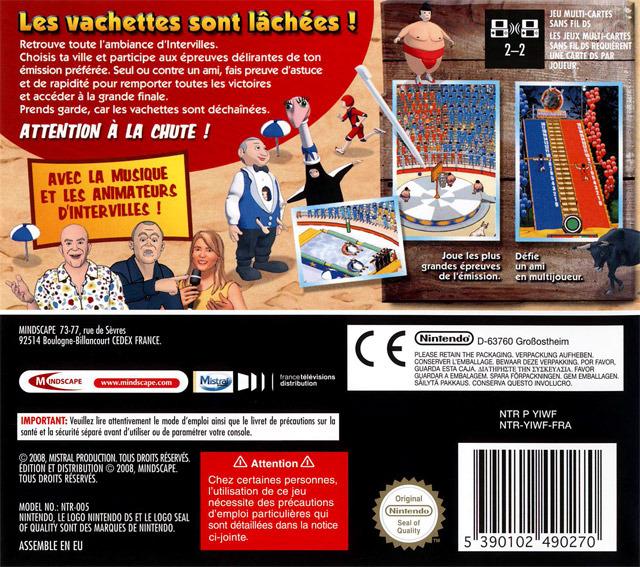 Jeu video Intervilles sur DS - 1 - images, jaquette, scans