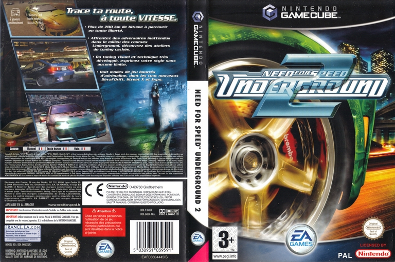 jeu video need for speed underground 2 sur gamecube 2 images jaquette scans screenshots. Black Bedroom Furniture Sets. Home Design Ideas