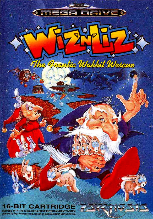 Jeu video Wiz'n Liz : The Frantic Wabbit Wescue sur Megadrive - 0
