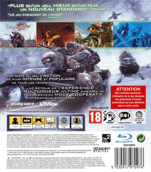 Jeu Video Call Of Duty Modern Warfare 2 Sur Ps3 1 Images Jaquette Scans Screenshots