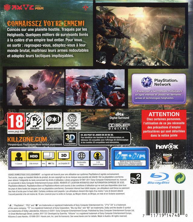 Jeu Video Killzone 3 Sur Ps3 1 Images Jaquette Scans Screenshots
