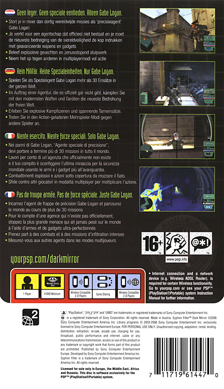 [Test] Syphon Filter Dark Mirrors - 2006 - PSP 1079