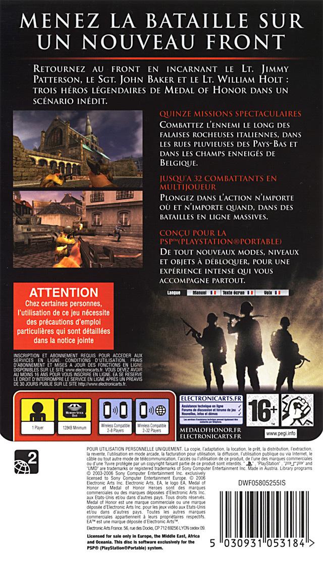 [Test] Medal of Honor Heroes 1 - 2006 - PSP 913
