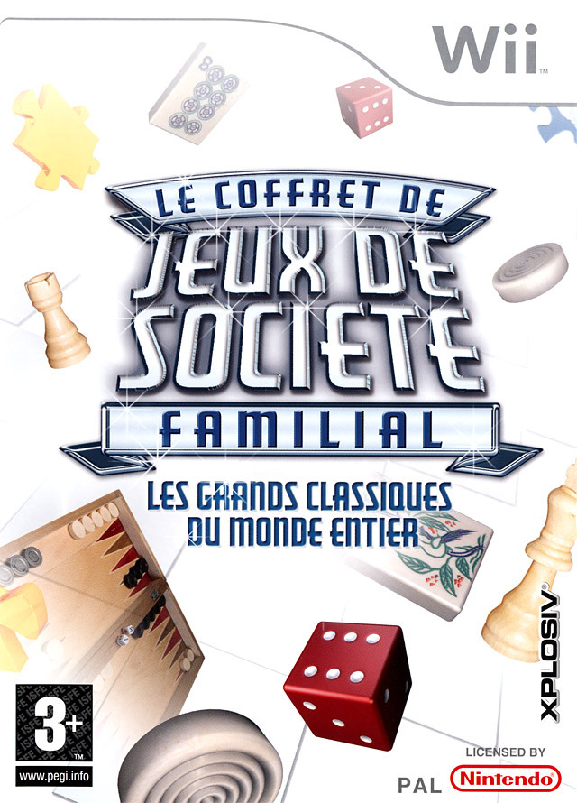 jeu video le coffret de jeux de societe familial sur wii 0 images jaquette scans screenshots. Black Bedroom Furniture Sets. Home Design Ideas
