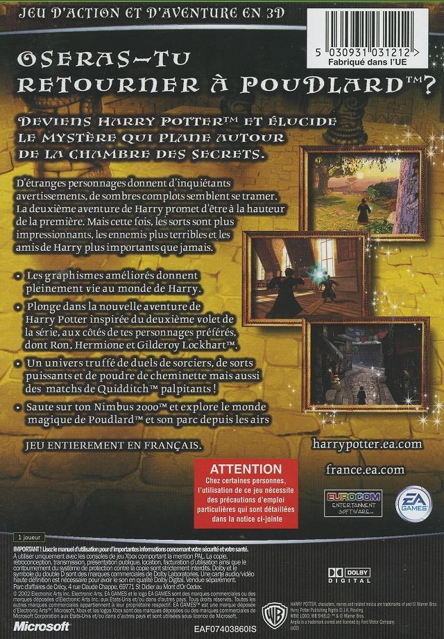 Jeu Video Harry Potter Et La Chambre Des Secrets Sur Xbox